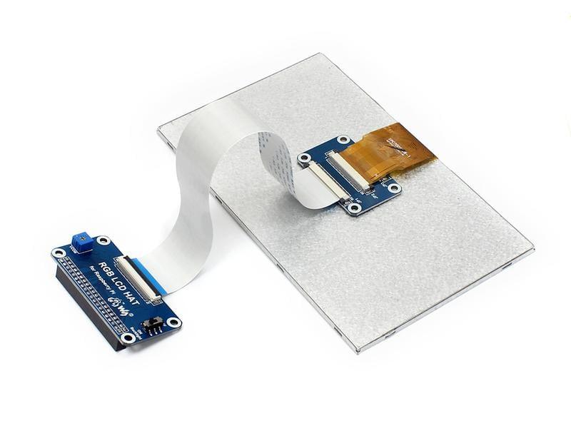 7寸顯示幕 DPI介面 IPS屏 LCD顯示器 適用樹莓派3代B/Zero W w43 056 [9000065]