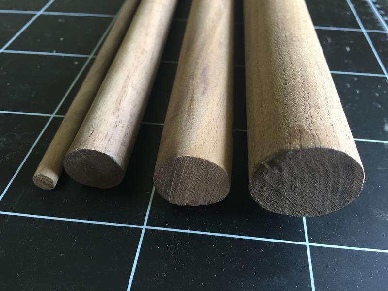 [丸木工坊] 超硬北美黑胡桃木實木圓棒圓木棒圓棍木材8mm12mm20mm25mm30mm35mm40mm長100cm