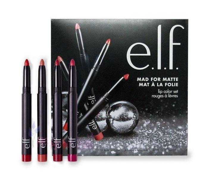 【彤彤小舖】e.l.f. Matte Lip Color 霧面唇彩筆 4件套組 單支1.4g *4入 ELF原裝進口