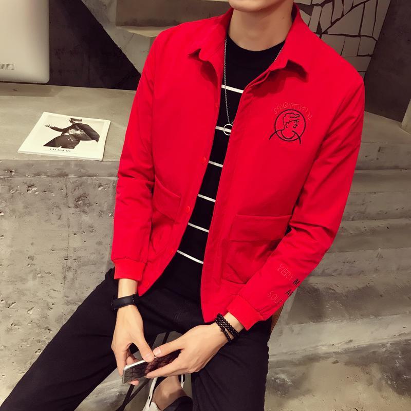 『年終免運』秋季新款男士夾克青年修身韓版時尚帥氣男裝休閑棒球領外套潮