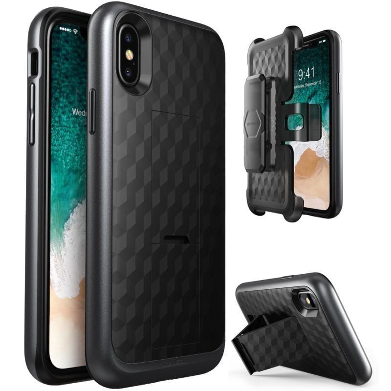 【免運】美國品牌i-Blason蘋果iPhone XS / X/ 7/7P/8/8P手機保護殼帶支架