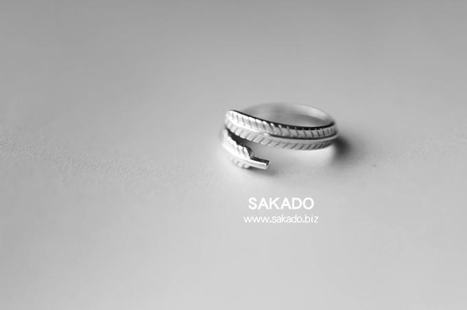 925純銀戒指-阪堂SAKADO-韓版設計師款尾戒--羽毛(尺寸可調)
