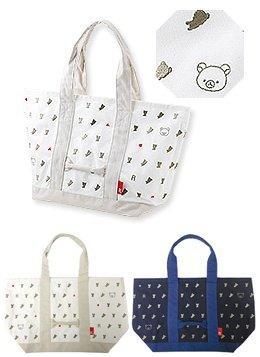 日本帶回 知名托特包品牌ROOTOTE×Rilakkuma拉拉熊/懶懶熊限定款 超大容量托特包/媽媽包