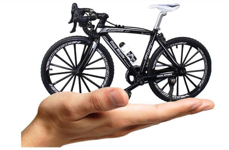 ●問吧●鋁合金仿真彎把公路車1:10可活動式轉動 迷你單車模型 自行車 場景收藏擺設觀賞把玩件