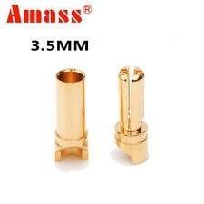 """""""RC小棧""""Amass 3.5mm 低阻抗金插, 剖溝式加大接觸面積, 極佳導電效能 剖溝金插"""