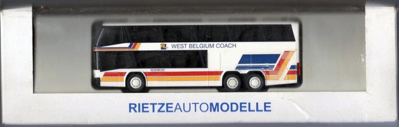 HO 1/87 Rietze 61073  Neoplan-Skyliner West Belgium Coach 雙層