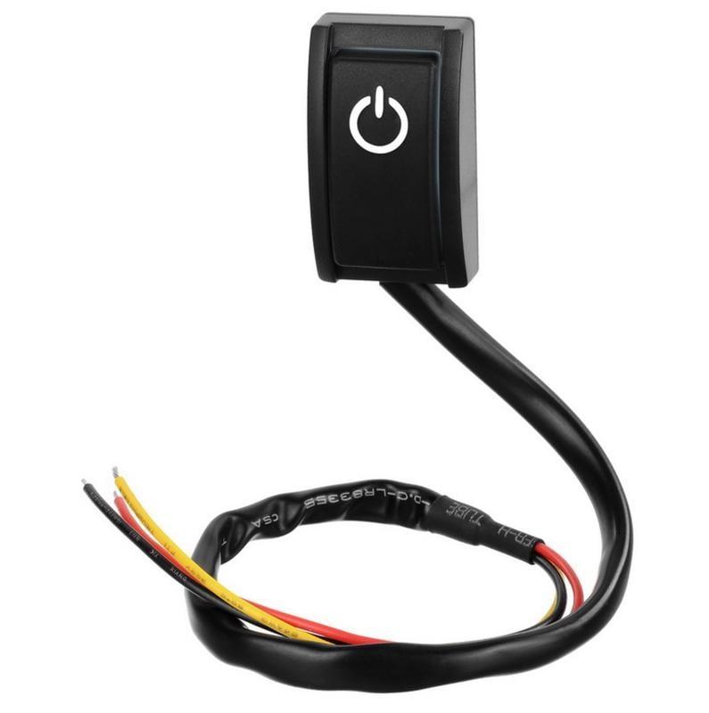 汽車 改裝 開關 12V 200mA 小功率 單指示燈 電源開關 自黏開關 車用電源開關 DIY 開關