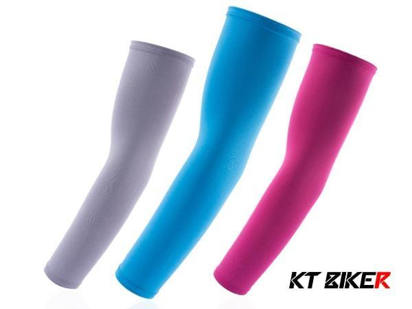 KT BIKER_(一對) 19種顏色 夏季 萊卡袖套 防曬 涼感 高爾夫球 運動 自行車 釣魚 袖套 【MTC003】
