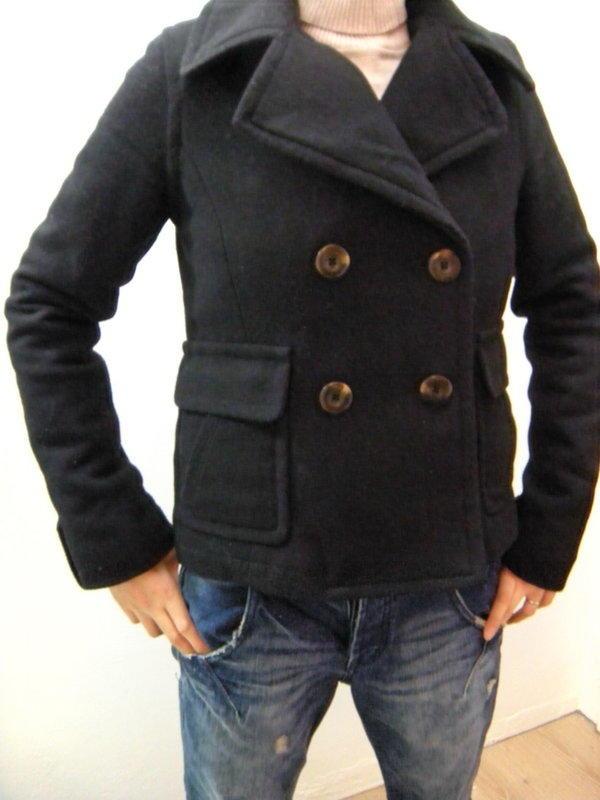 American Eagle AE Wool Peacoat 0382-1236 羊毛質感 短大衣 雙排扣 短大衣