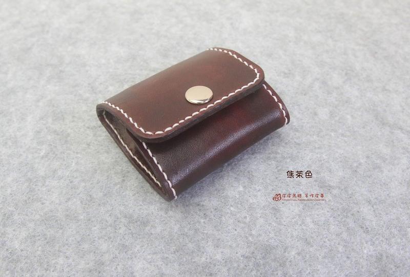 『皮皮馬路 手作皮革』真皮純手作方形零錢包/可放上銅板零錢、吉他Pick/收納