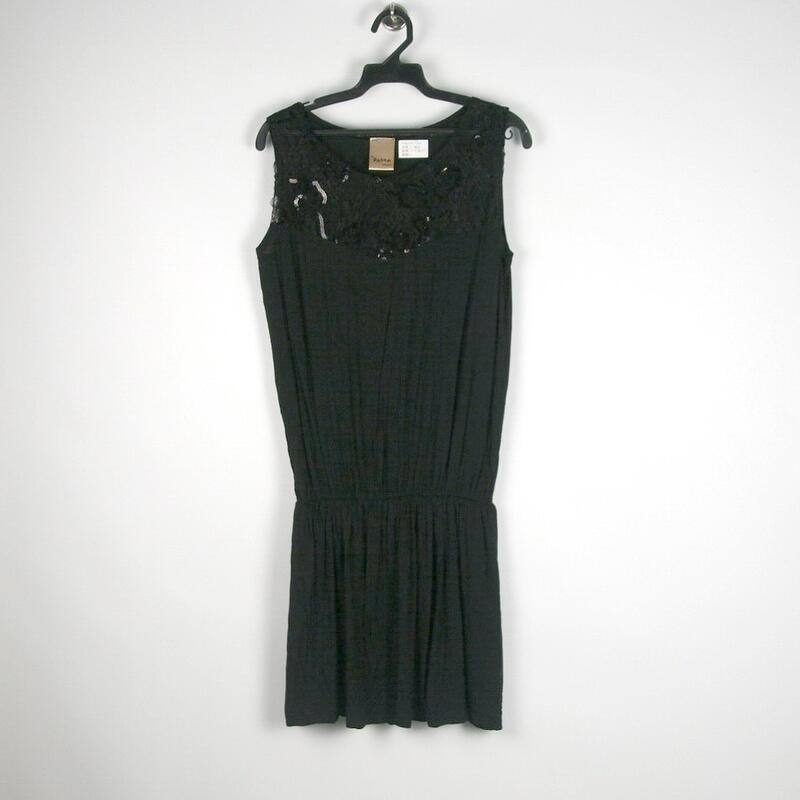 200307舊愛古著~品牌pasta黑色無袖洋裝