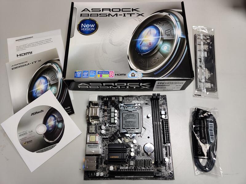 全新品 ASRock 華擎 B85M-ITX 1150 DDR3 Mini-ITX 歡迎量大議價