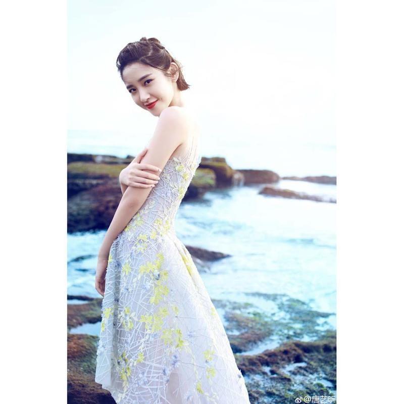 2846#重工刺繡沙灘海邊鏤空紗A字型連衣裙伴娘小禮服