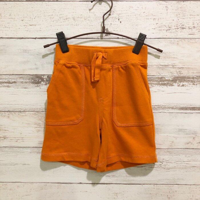 Maple麋鹿小舖 美國購買童裝品牌 GYMBOREE 男童橘色素面短褲 * ( 現貨18-24 mos )