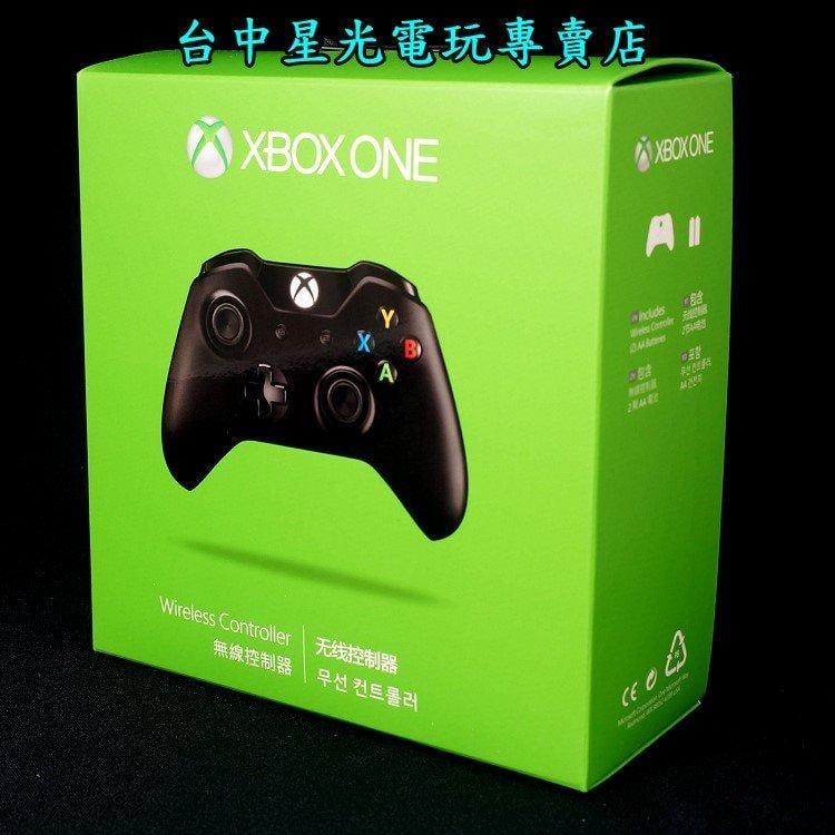 缺貨【XB1週邊】☆ Xbox One 原廠無線控制器 黑色手把 ☆【盒裝全新 微軟原廠】台中星光電玩