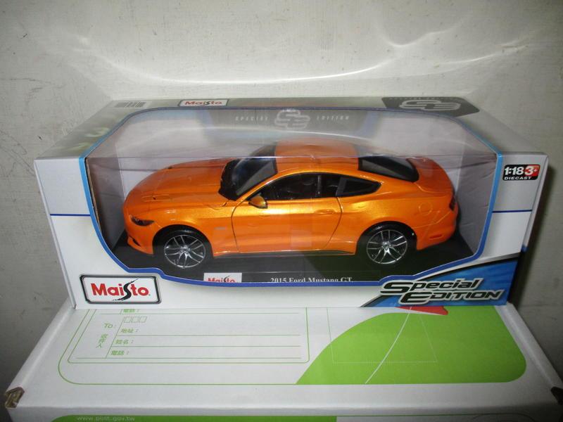 風火輪多美美捷輪Maisto橘1/18合金車福特2015 Ford Mustang GT野馬1:18跑車八佰五十一元起標