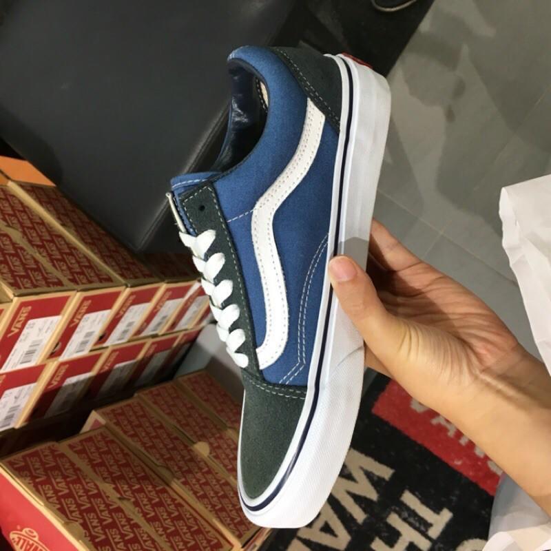 Vans 经典款 蓝色 帆布鞋 现货实拍