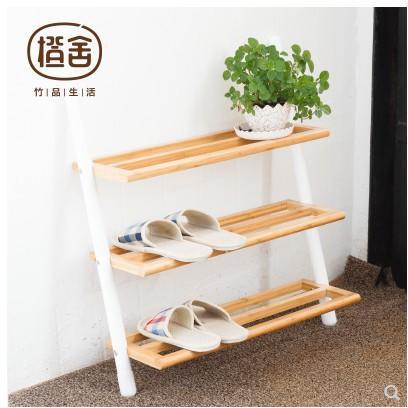 橙舍 創意多層靠墻隔板置物架花架客廳玄關鞋架兒童間易落地書架