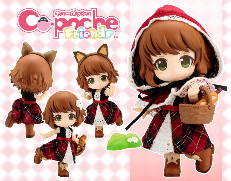 。☆哞哞小舖☆。Cu-poche 口袋人 Little Red Riding Hood 小紅帽 真衣服 優質港版 可動