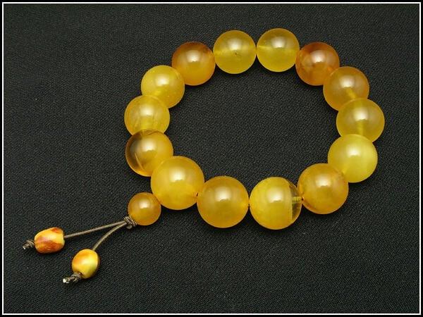 【東方主義】波羅的海琥珀圓珠手鍊《手串》《琥珀蜜蠟》。C78