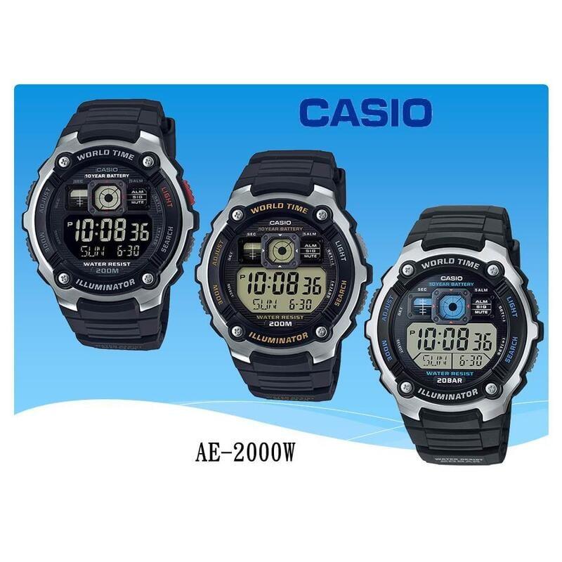 經緯度鐘錶 CASIO手錶 強悍風格 G-SHOCK概念 200米防水 飛機儀錶板設計 公司貨【特惠價】AE-2000W