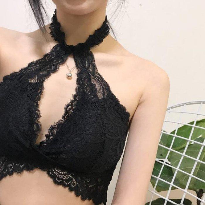 名媛氣質性感蕾絲鏤空掛脖美背時尚打底吊帶背心上衣夏裝新款