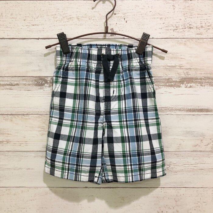 Maple麋鹿小舖 美國購買童裝品牌 GYMBOREE 男童格紋款短褲 * ( 現貨18-24 mos )