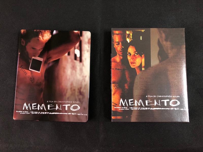 (個人收藏)記憶拼圖 Memento  藍光BD 外紙盒限量鐵盒版(諾蘭 黑暗騎士 全面啟動 敦克爾克)