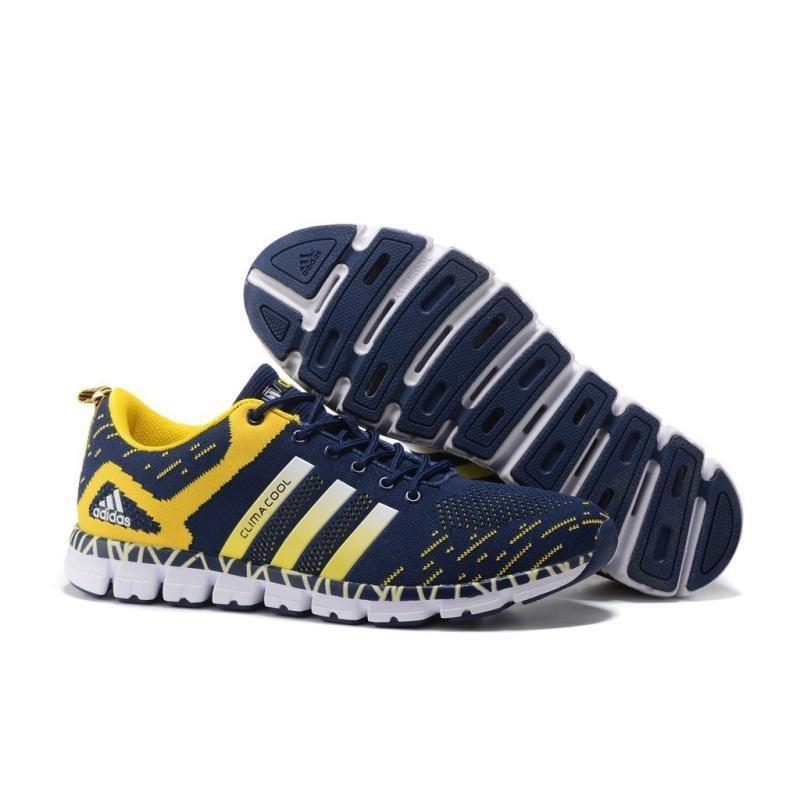 愛迪達 清風毛毛蟲五代 訓練運動跑鞋 adidas休閑情侶鞋 男女鞋 S77265 深蘭黃