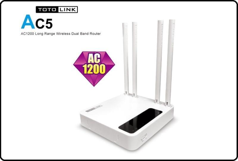 含稅 ●全新現貨● TOTOLINK AC5 AC超世代無線雙頻路由器 5dbi天線*4 AC1200極速飆網