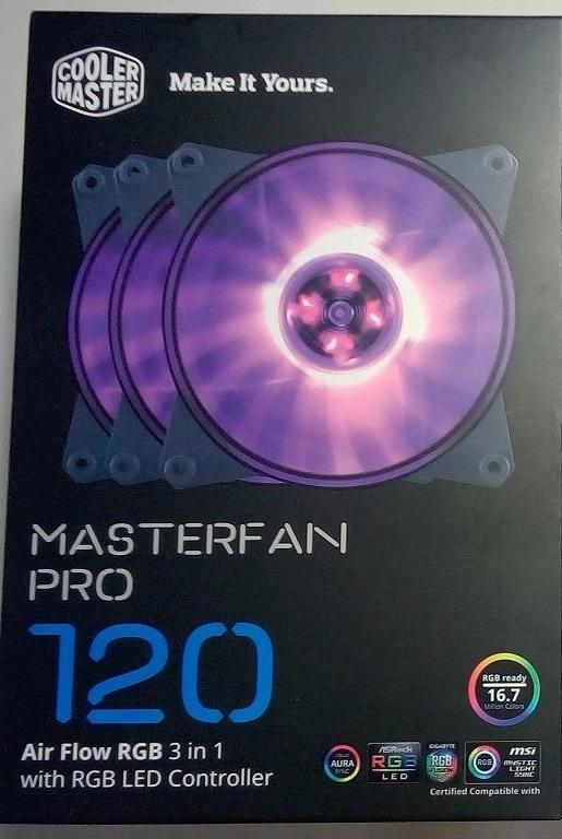 (NEW) Cooler Master MasterFan Pro 120 RGB風扇|12公分風壓型 3顆裝