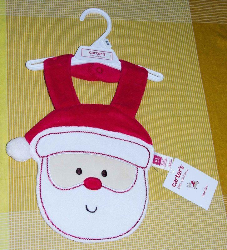 carters  聖誕老公公造型 圍兜/口水巾
