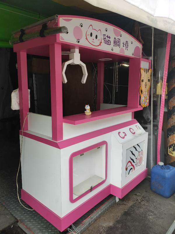 全實木特製雞蛋糕  鯛魚燒餐車(送營業用雞蛋糕爐具3孔)