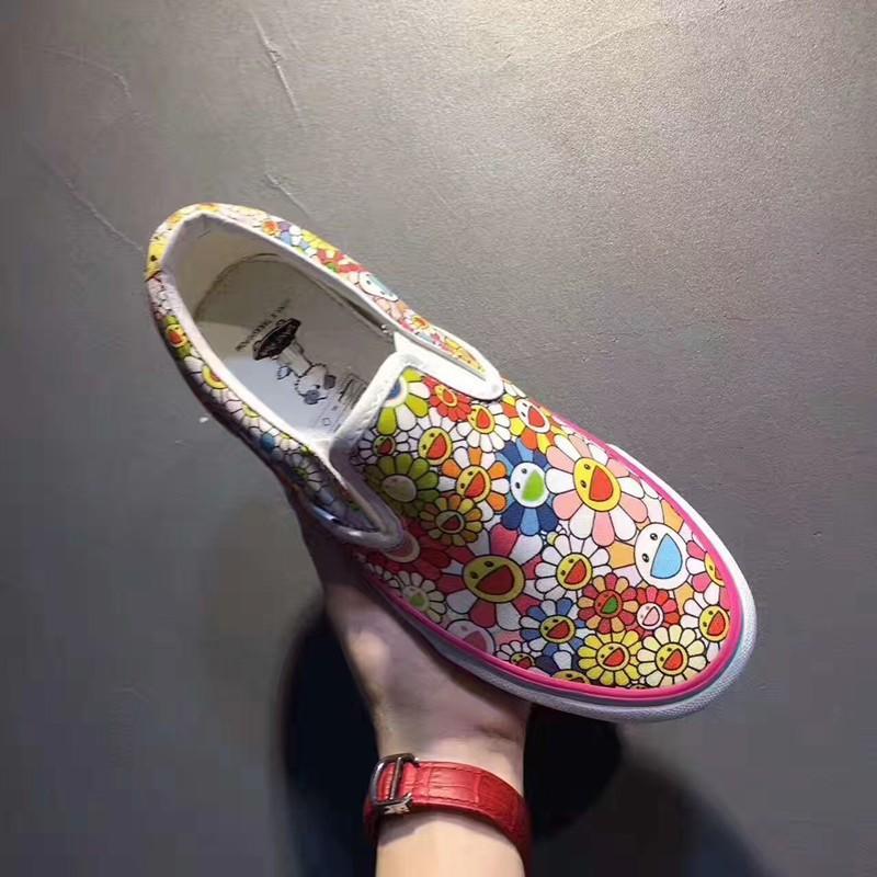 "Takashi Murakami x Vans Vault Slip-On LX""Flower Multi""彩色太阳花"
