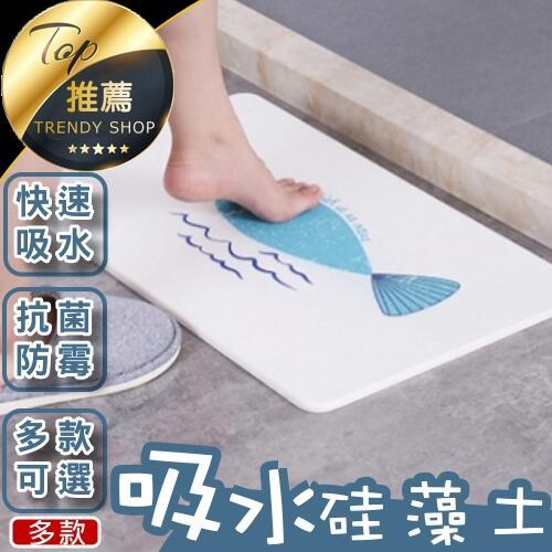 《台灣現貨 多款硅藻土墊》 60*40cm 硅藻土吸水速乾腳踏墊地墊浴室珪藻泥矽藻土地墊【VR00A245】