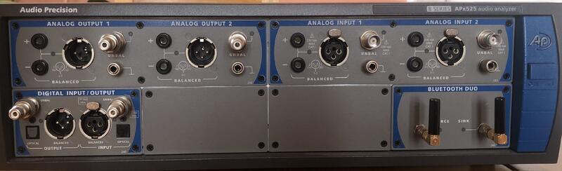 (華甸科技) Audio Precision APx-525 B Series 音頻分析儀 2 Channel (二手)