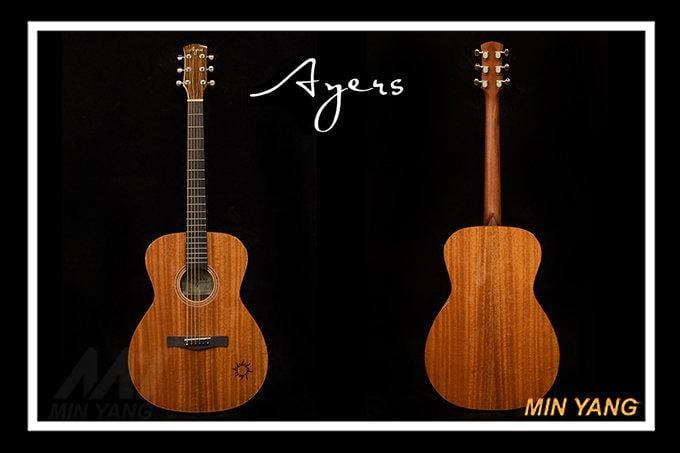 *民揚樂器*/ Ayers 民謠吉他 O-03 小太陽 全單板 木吉他 附硬盒/GSP優良樂器商
