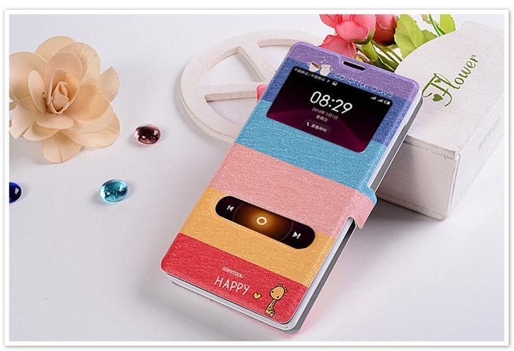 促銷 彩繪 紅米NOTE 5.5吋 手機保護套 雙視窗 免掀蓋接聽