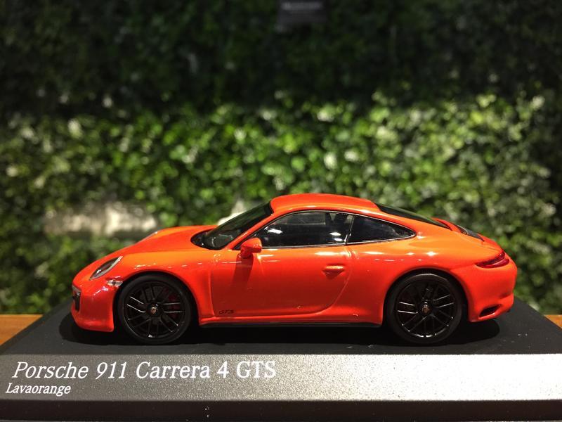 Minichamps 1:43 410067321 Carrera 4 GTS lavaorange 991 II Porsche 911