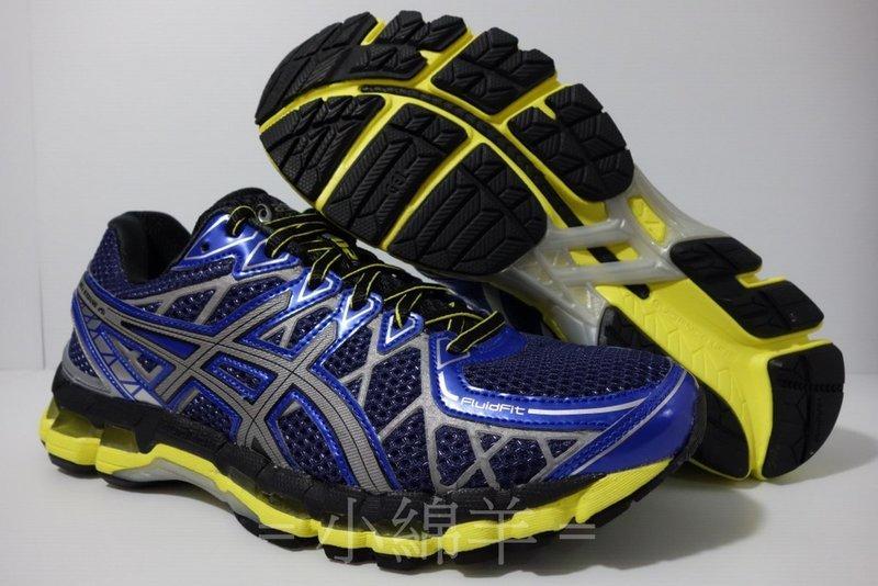 【買鞋送襪】 ASICS GEL-KAYANO 20 LITE-SHOW 藍黃 K264 T30CQ-6093 亞瑟士