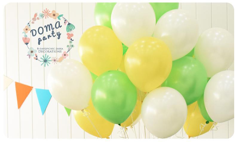 <豆媽派對雜貨> NEO10寸乳膠氣球婚禮佈置 清新綠草原婚禮攝影氣球佈置生日佈置 攝影道具 親子寫真 氣球佈置