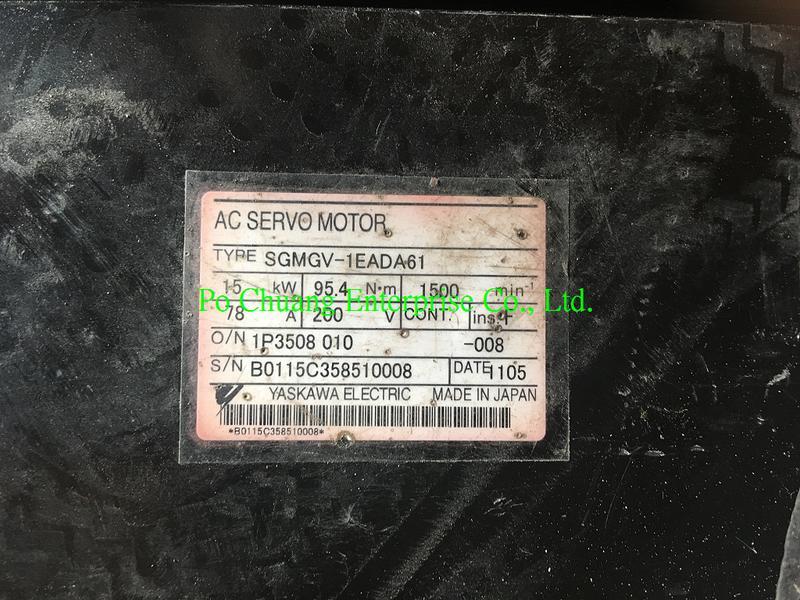 販售與維修 YASKAWA 安川  MOTOR SGMGV-1EADA61 (歡迎詢問)