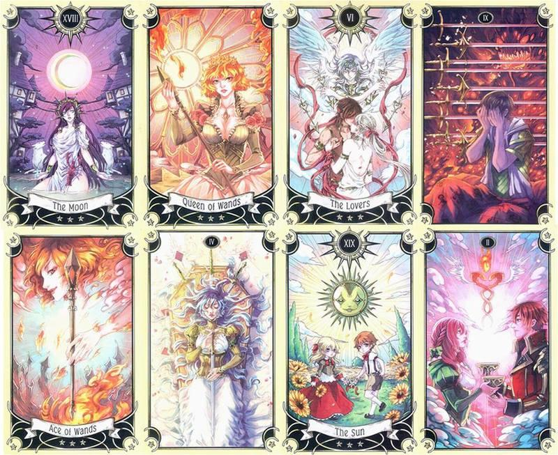 2017NEW★塔羅事典★孟小靖的塔羅博物館《神秘漫畫塔羅牌 Mystical Manga Tarot》全彩英文書+牌