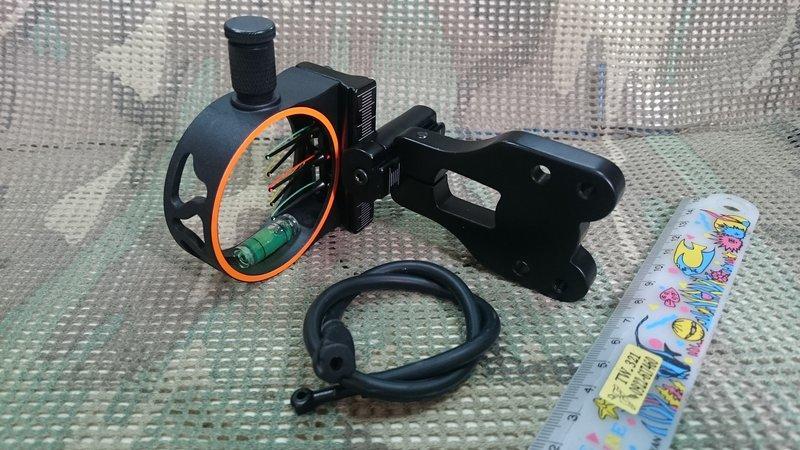 (新)-複合弓用瞄準器組(付燈含弦上覘孔)-金屬.射箭.滑輪弓.弓箭用品