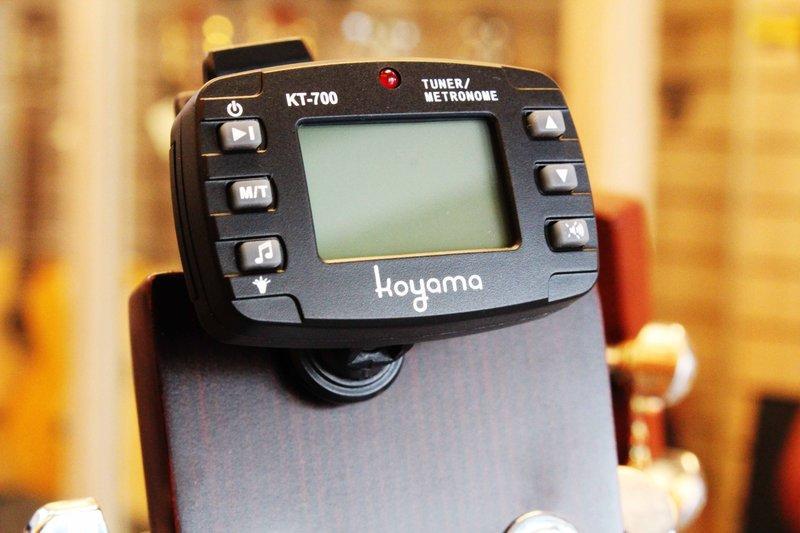 台灣品牌 KOYAMA 原廠KT-700夾式調音器節拍器二合一 CP值超高