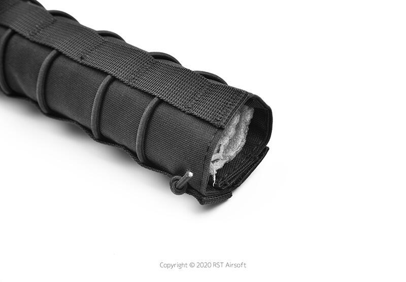 RST 紅星 - 18cm 滅音管保護套 偽裝套 滅音管袋 保護袋 防刮套 黑色 ... 19407