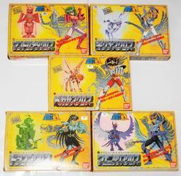 聖鬥士星矢-日版聖衣大系新生青銅聖衣5盒一次收藏 極美品