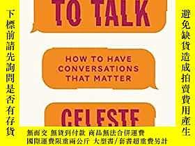 古文物我們需要對話:如何進行有意義的對話罕見We Need to Talk: How to Have Conversat