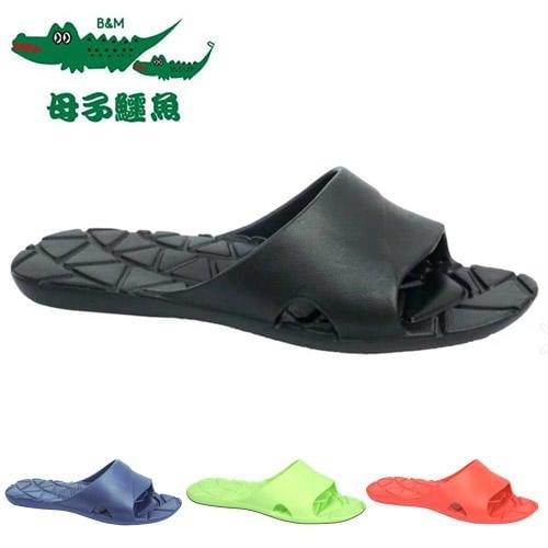 男女款 母子鱷魚 輕量防滑耐髒排水一字拖鞋 防水拖鞋 浴室拖鞋 室內拖鞋 KM