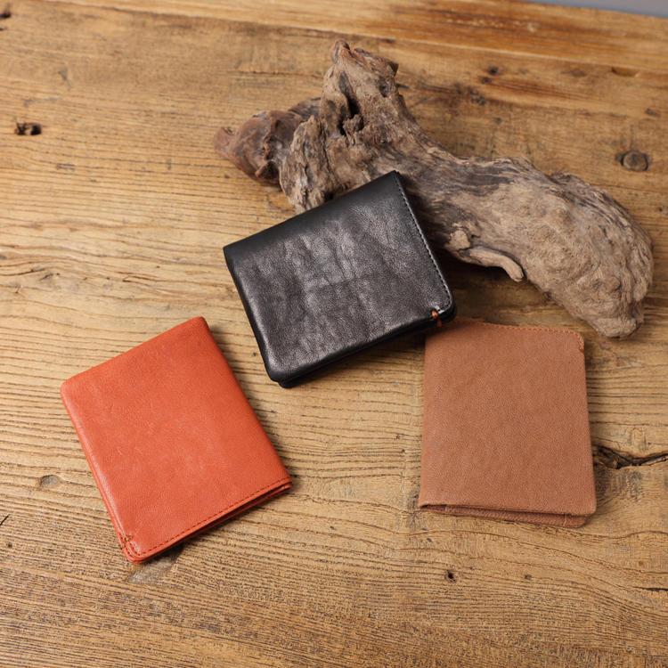 【Solomon 原創設計皮件】熟成 手作真皮牛革輕薄直式短夾